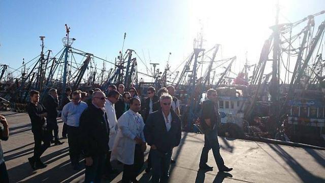 Des opérateurs marocains de la pêche en visite de prospection au port français Lorient